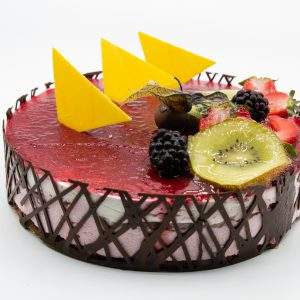 Tarta de Frambuesa y Chocolate Blanco