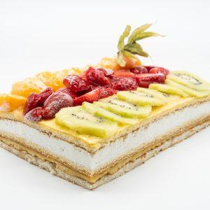 Tarta Cuadrada de Frutas
