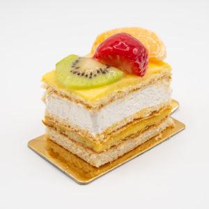Pastel Cuadrado de Fruta