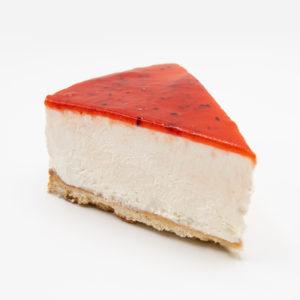 Porción de Tarta de Queso y Frambuesa